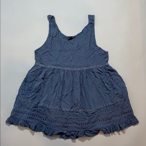 Blue Baby doll Blouse
